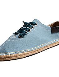 Men's Sneakers Spring Fall Comfort Tulle Outdoor Flat Heel Lace-up Walking