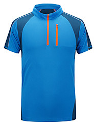 Men's Short Sleeve Running T-shirt Breathable Sweat-wicking Comfortable Spring Summer Fall/Autumn Sports WearFishing Leisure Sports
