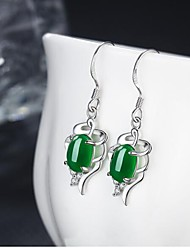 Drop Earrings Basic Copper Emerald Green Red Jewelry For Daily Casual 1 Pair