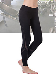 Women's Mid Rise Stretchy Sweatpants Pants,Slim Mesh Patchwork Solid
