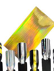 1pcs Fashion Nail Art DIY Line Foils Sticker Nail Art Beauty Design Laser Gold Nail Art Line Nail DIY Foil Stripping Tape