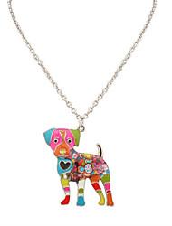 Femme Homme Pendentif de collier Bijoux Forme d'Animal Original Logo Pendant Animal Fait à la main Arc-en-ciel Bijoux Pour Mariage Soirée