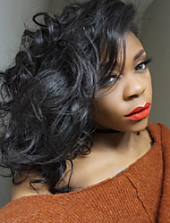 9a grau lace front bob wigs onda de cabelo solta para a mulher preta 130% de densidade peruano cabelo perucas ajustáveis perucas de laço