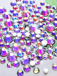 Кристалл ab nail art rhinestones1440pcs / lot ss4 dmc блеск высокое качество flatback non hotfix diy украшение ногтя украшение инструмент