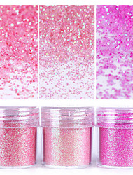 Pink Shining Nail Glitter Powder 1Box 10ml Nail Art Dust Tips Nail Art Decoration for nail polish