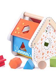 Brinquedo Educativo para presente Blocos de Construir Hobbies de Lazer Casa Madeira 5 a 7 Anos 8 a 13 Anos Brinquedos