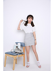 Femme Taille Haute Mini Jupes,Trapèze Points Polka