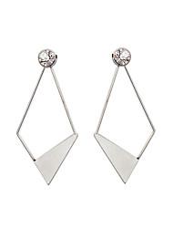 Drop Earrings Imitation DiamondUnique Design Pendant Rhinestone Tag Geometric Euramerican Fashion Personalized Hypoallergenic Statement