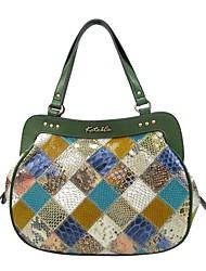 Kate&Co. luxury snake leather hand bag leather handbag stitching simple fashion TH-02207 underwater world