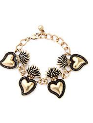 Femme Charmes pour Bracelets Amitié Mode Alliage Forme de Coeur Bijoux Pour 1pc