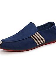 Men's Loafers & Slip-Ons Summer Fall Comfort Light Soles Suede Office & Career Casual Flat Heel Split Joint Walking
