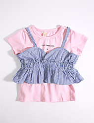 Girls' Casual/Daily Solid Striped Sets,Cotton Summer Clothing Set