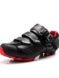 Cycling Shoes Men's Breathable Wearable Buckle Leatherette Cycling