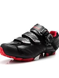 Sapatos para Ciclismo Homens Respirável Vestível Fivela Courino Ciclismo