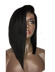 Perucas completas do cabelo humano do laço do prumo quente com cabelo do bebê perucas virgens brasileiras do cabelo humano para mulheres