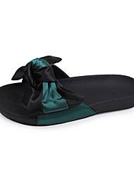 Feminino-Chinelos e flip-flops-Conforto-Rasteiro--Couro Ecológico-Casual