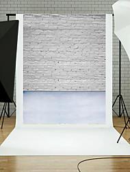 5x7ft tijolo parede chão fotografia fundo estúdio adereços azul tábua tema novos