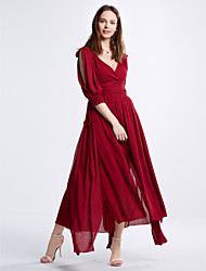 Women's Asymmetrical Elegant palace dress beach dress  red dress