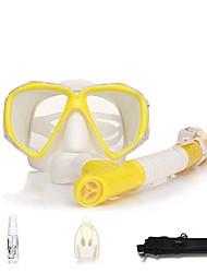 Diving Masks Snorkels Protective Diving / Snorkeling Neoprene Fibre Glass Yellow