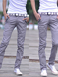 Men's Low Rise strenchy Chinos Pants,Street chic Loose Solid