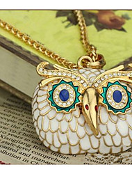 Women's Couple's Choker Necklaces Pendant Necklaces Chain Necklaces Rhinestone Owl Acrylic Rhinestone Alloy Basic Unique Design Dangling
