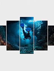 Отпечатки на холсте Люди Modern,5 панелей Холст Любая форма Печать Искусство Декор стены For Украшение дома
