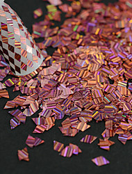 1 бутылка новой моды розовый сладкий стиль ногтей лазерной нашивки ромб тонкий срез DIY красоты блеск ослепительно блестка украшения lw07