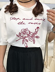 Mujer Sexy Adorable Chic de Calle Noche Casual/Diario T-Shirt Falda Trajes,Escote Redondo Estampado