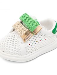 Girls' Baby Flats First Walkers Tulle Summer Casual First Walkers Flat Heel Ruby Green Flat