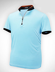 Homens Manga Curta Golfe Camiseta Polo Blusas Respirável Redutor de Suor Confortável Golfe Esportes Relaxantes