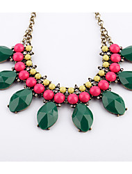 Women's Strands Necklaces Geometric Chrome Unique Design Euramerican Dark Green Jewelry For Casual Christmas Gifts 1pc