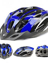 Tres colores ligeros 18 agujeros de espuma de ventilación casco de bicicleta