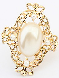 Euramerican Elegant Luxury Fashion Party Pearl Cuff  Ring Gift Jewelry