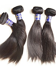 4Bundles 400g Lot Top 12A Peruvian Straight Human Hair Weave Natural Black Color Texture Soft and Smooth Beautysister We Only Sale Original Human Hair