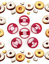 выпечке Mold Сердце Цветы Звезда Для торта Для Cookie Пластик Сделай-сам Высокое качество Экологичность