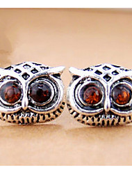 Euramerican Fashion Delicate Eyes Vintage The Owl Earrings Small Silver lovely Female Halloween  Earrings Statement Jewelry