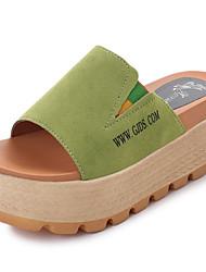 Women's Slippers & Flip-Flops Summer Comfort PU Outdoor Creepers Walking