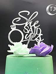 Decorações de Bolo Não-personalizado Monograma Acrilíco Casamento Tema Clássico PPO