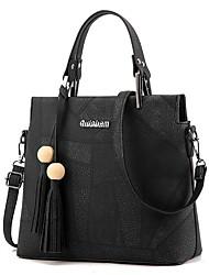 Senhora grande totes saco mulheres mensageiro bolsa crossbody saco de couro pu com cinto agradável e bead bolsos mujer bolsos mujer