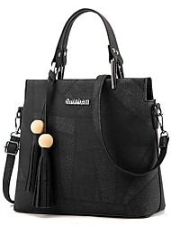 Lady big totes sac femme messenger sac à main crossbody bag cuir pu avec belle ceinture et perles bolsos mujer bolsos mujer