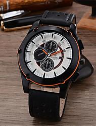 Мужской Модные часы Кварцевый Кожа Группа Черный
