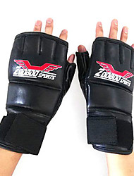 Boxing Gloves for Boxing Fingerless Gloves Protective Leather Nylon
