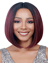 Fashion Straight Black To Red Color Synthetic Wigs Cosplay Wigs