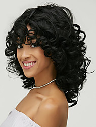 Fashion Wave Synthetic Wigs African American Curly Black Short Wig Synthetic Hair For Black Women