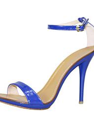 Feminino-Sandálias-Sapatos clube-Salto Agulha--Couro Envernizado-Social Casual Festas & Noite