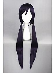 Long Straight Love Live!-Tojo Nozoimi Purple&Black 40inch Anime Cosplay Wig CS-181E