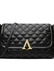 Women Bags All Seasons PU Shoulder Bag with for Event/Party Casual Office & Career Black