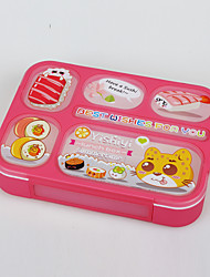 New Plastic Leekproof 6 Compartment Lunchboxes for Adults and Kids