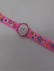Women's Fashion Watch Quartz Rubber Band Pink