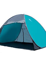 3-4 personnes Tente Unique Tente automatique Deux pièces Tente de camping 2000-3000 mm Acier inoxydable Oxford Etanche Portable-Randonnée